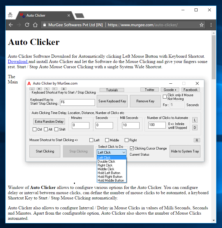 Auto Clicker Free Download