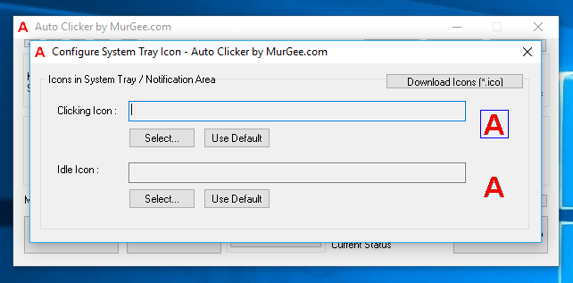 Configure Application Icons of Auto Clicker