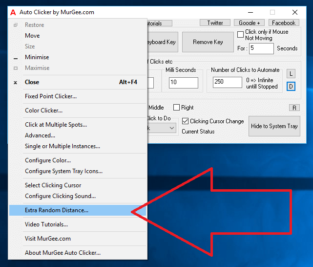 Extra Random Distance for Auto Clicking at Current Mouse Cursor Location and for Fixed Location Clicking in Auto Clicker