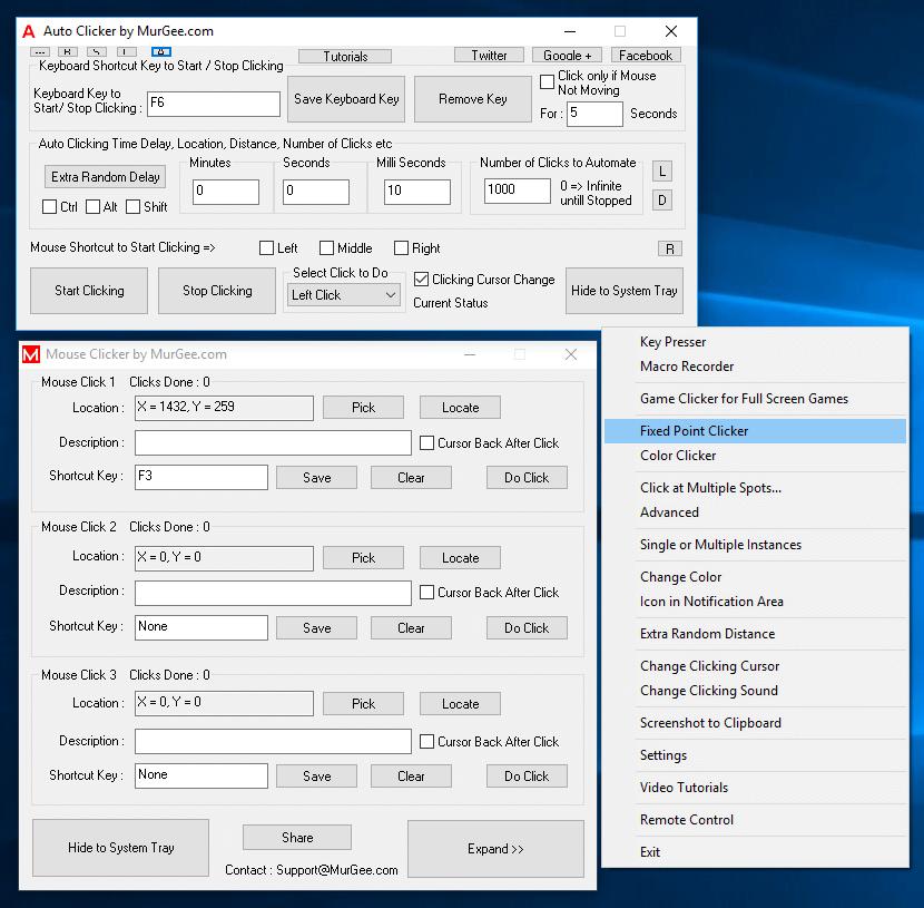 Fixed Point Clicker in Auto Clicker