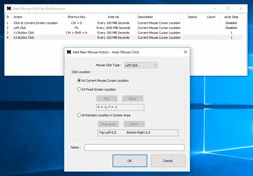 Multiple Auto Clickers in Auto Clicker Provided Windows Application