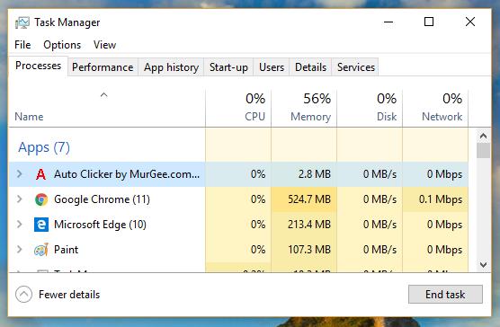 Auto Clicker using Minimal Computer Resources